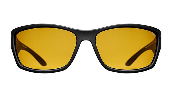 Norr - Jesper Rubberized Black/Yellow lens - Norr Eyewear